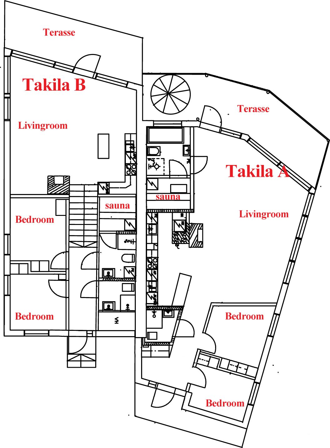 Villa Takila A 8+2 hengelle | Forlake Oy