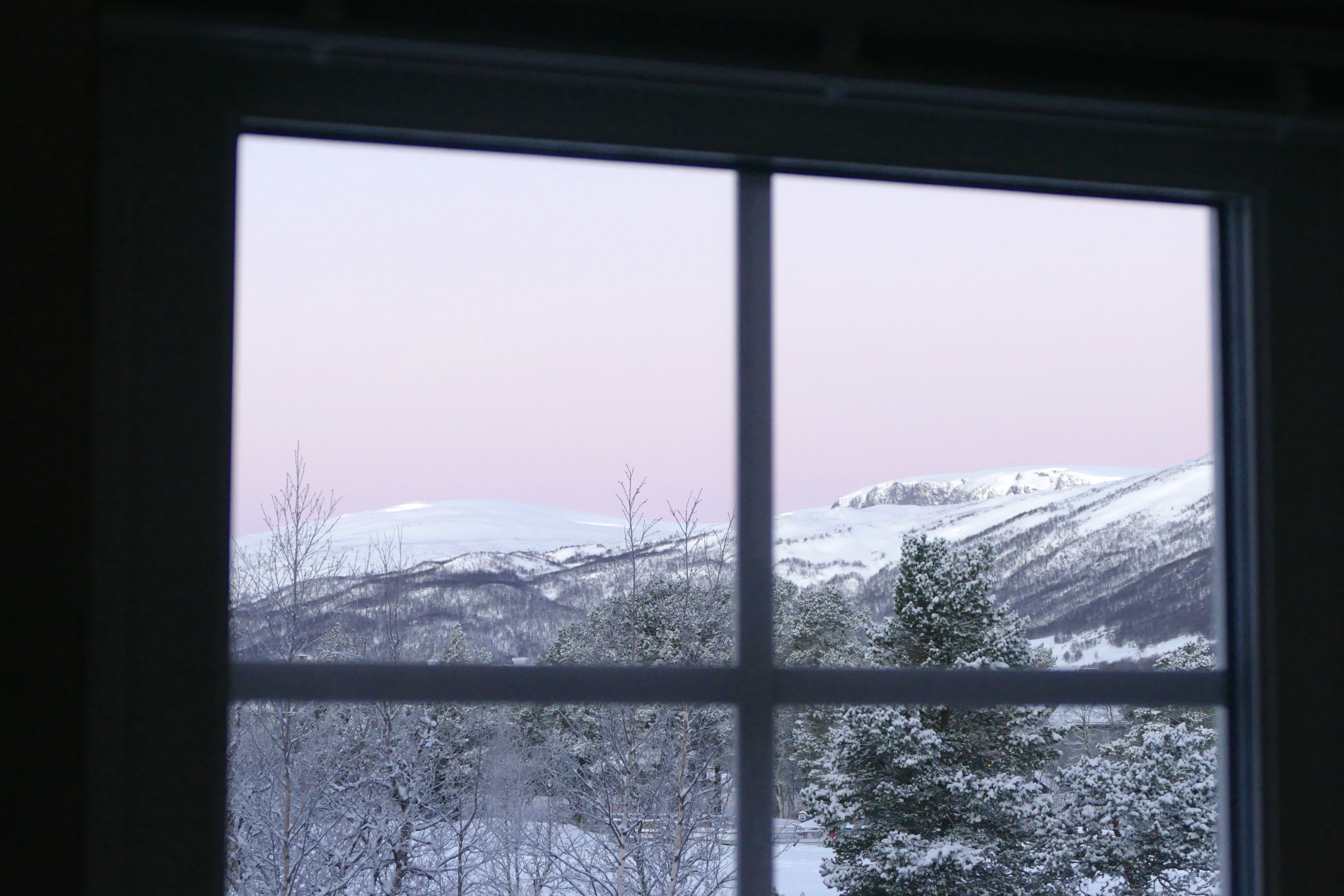 Utsikt fra hytte / View from the cabins