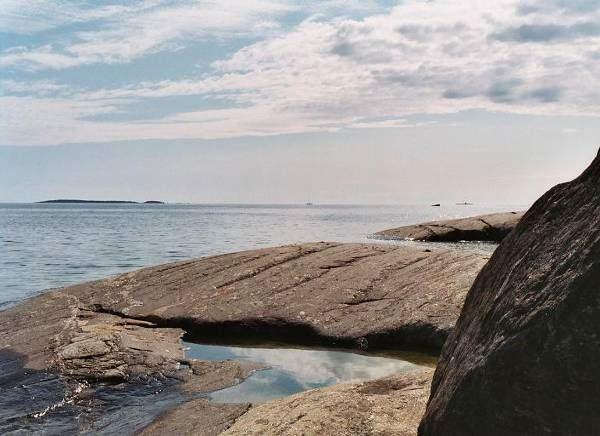 Båttur i Söderhamns skärgård till Trollharens fiskeläge
