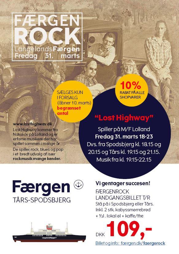 Fredagsrock på LangelandsFærgen - 31. marts