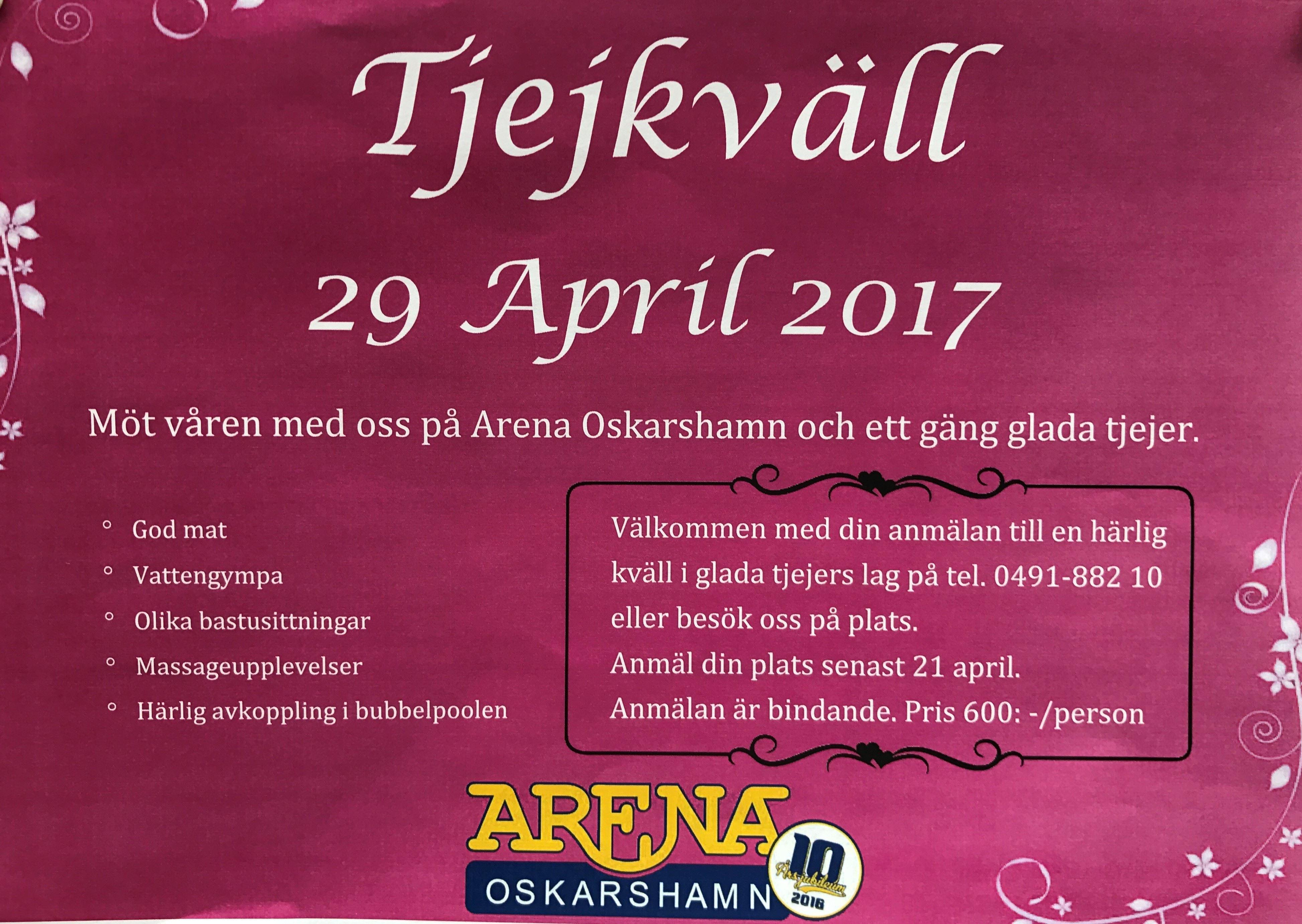 Tjejkväll på Arena Oskarshamn
