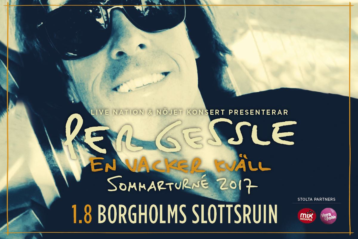 Per Gessle, En vacker kväll - Borgholms slottsruin