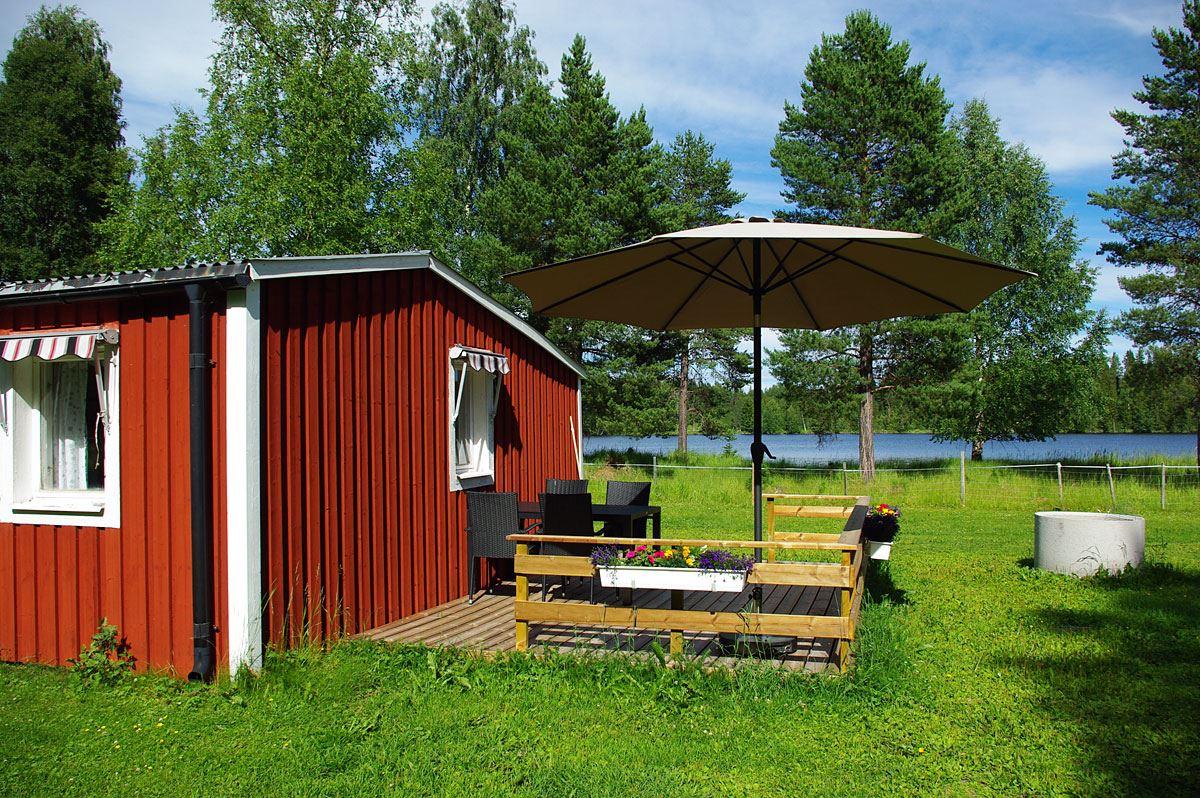 Foto: Lits Camping,  © Copy:Lits Camping, Sjävhushålsstuga 35 kvm med dusch, toalett och kök