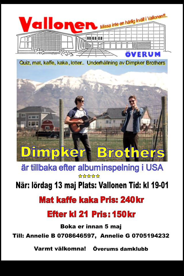 Dimpker Brothers spelar i Överum