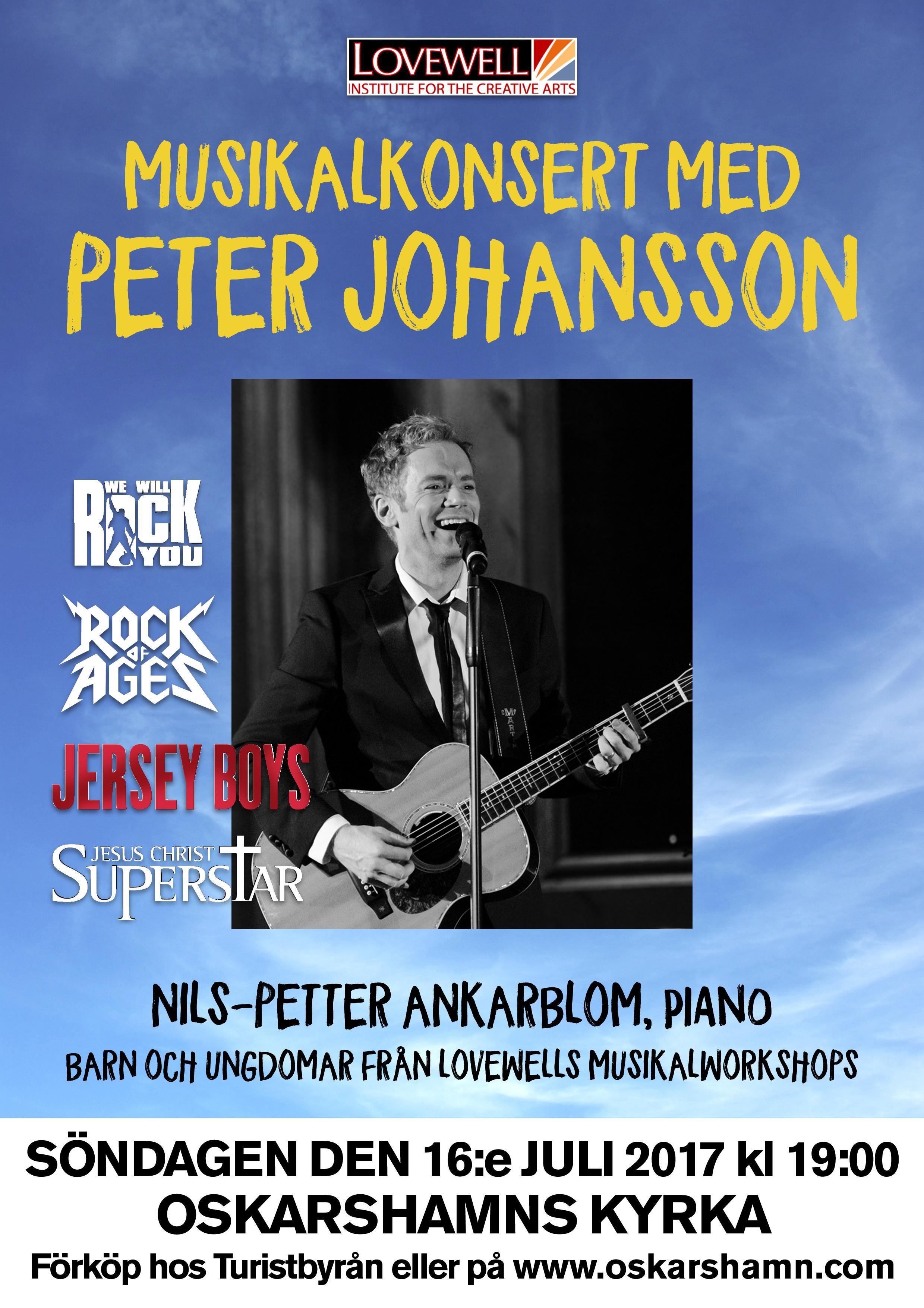 Musikalkonsert med Peter Johansson