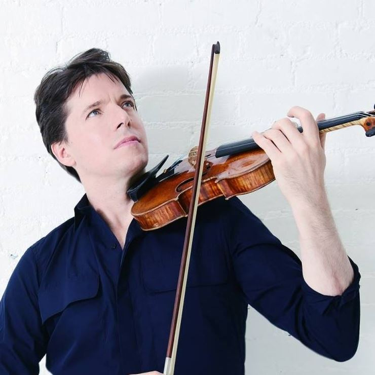 Concert by Joshua Bell with a symphony orchestra