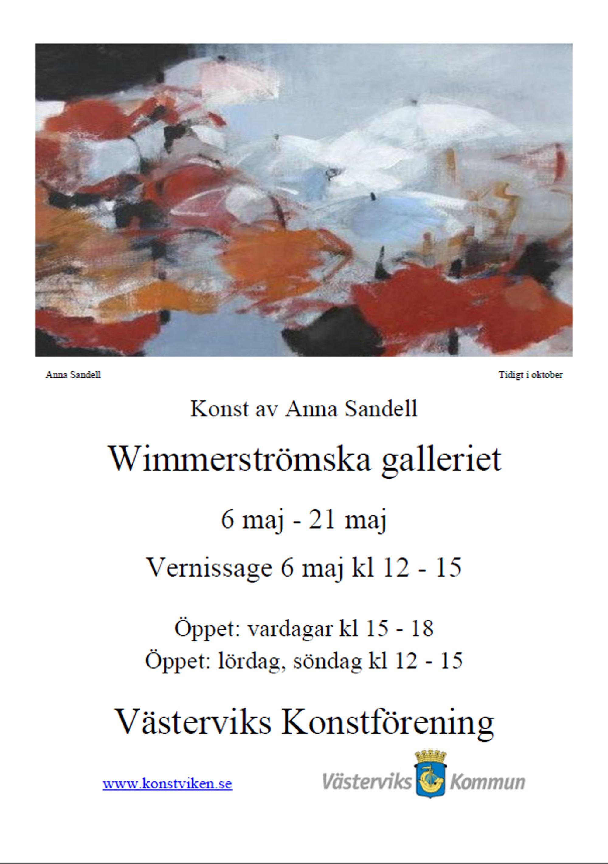 Konstutställning på Wimmerströmska Galleriet