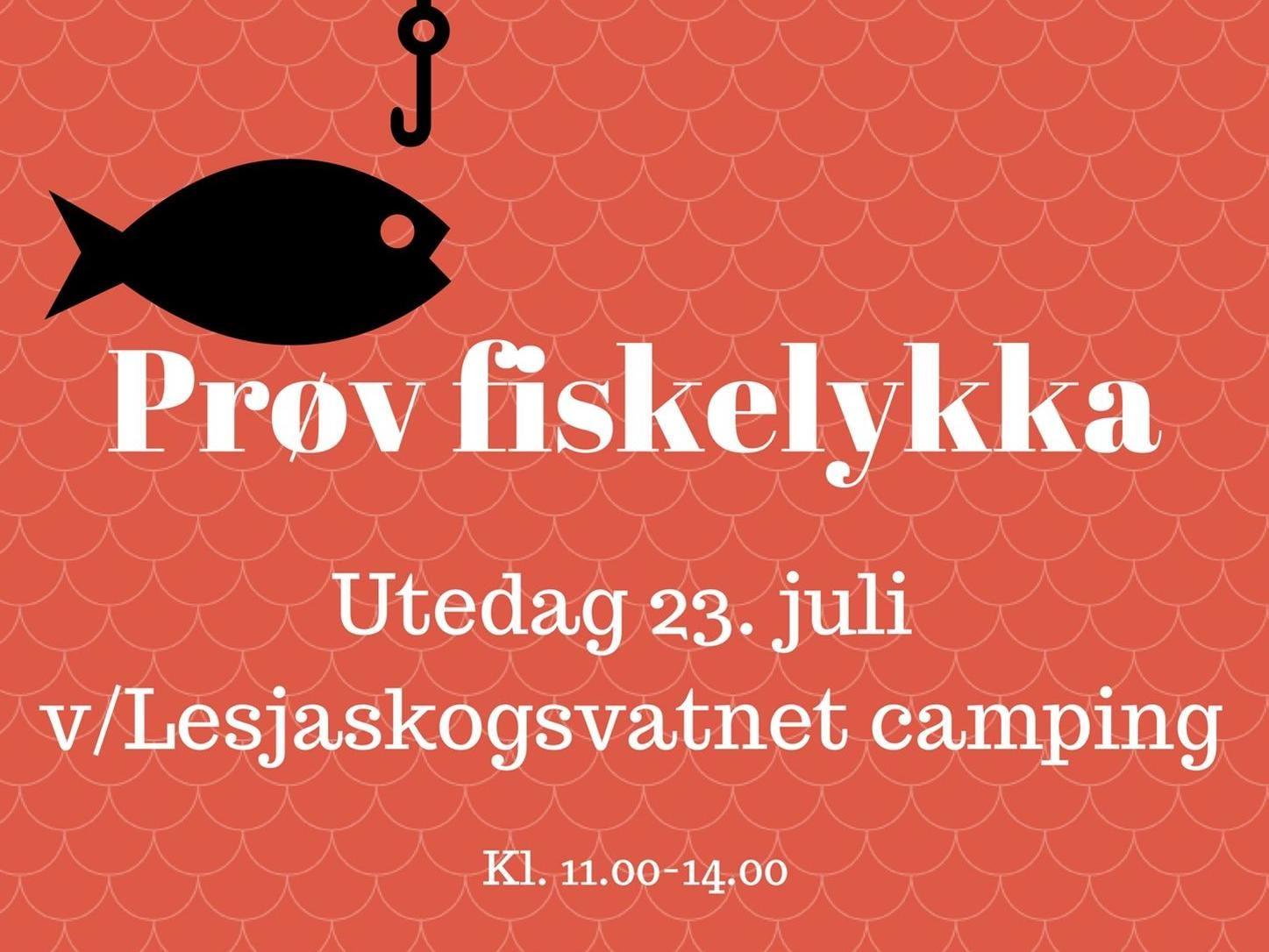 Prøv fiskelykka på Lesjaskog