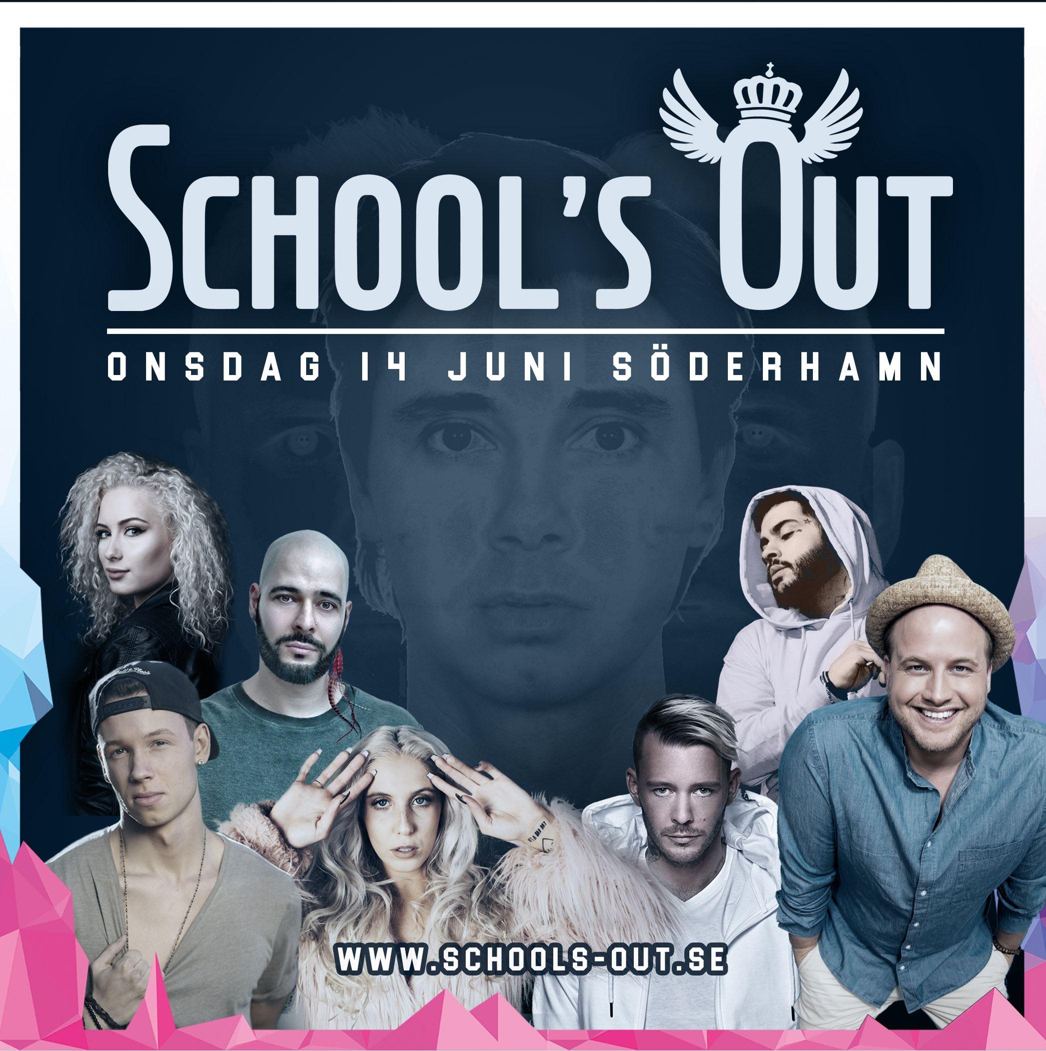 Schools Out 2017 SEEB, Garmiani, Freddy Kalas, Joakim Lundell, Peg Parnevik, Wiktoria, Allyawan, Ben Mitkus