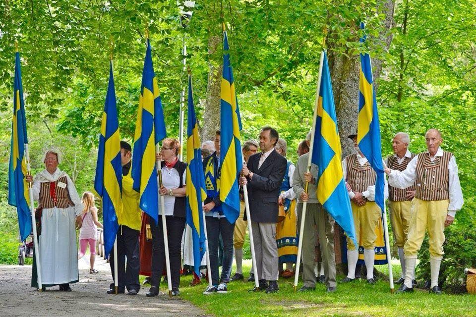 National- och familjedagsfirande i Ankarsrums Brukspark