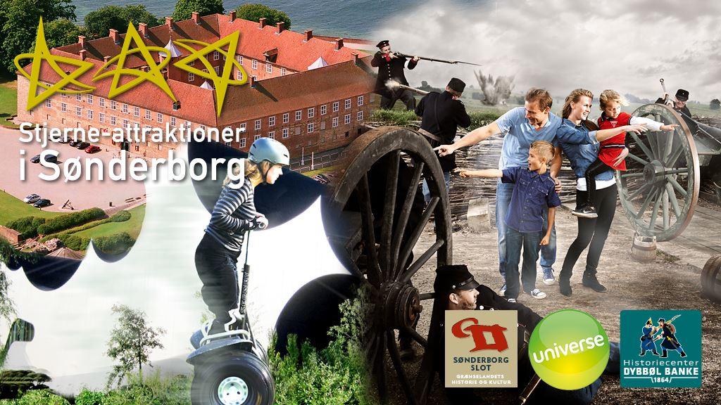 Kombi-Billet til Sønderborgs Stjerne-Attraktioner