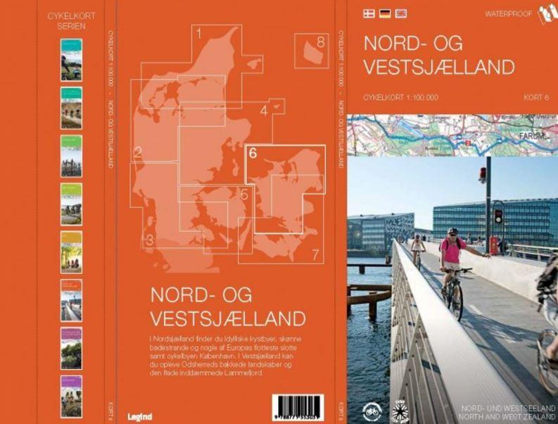 Nord- og Vestsjælland cykelkort