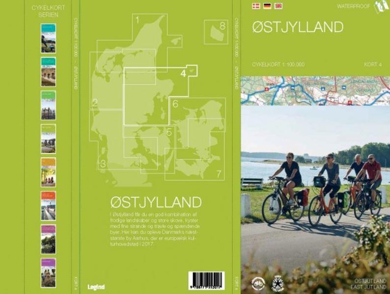 Østjylland cykelkort