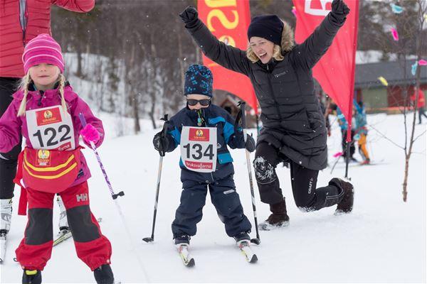Jocke Lagercrantz , Skidtävling för 0-8 år