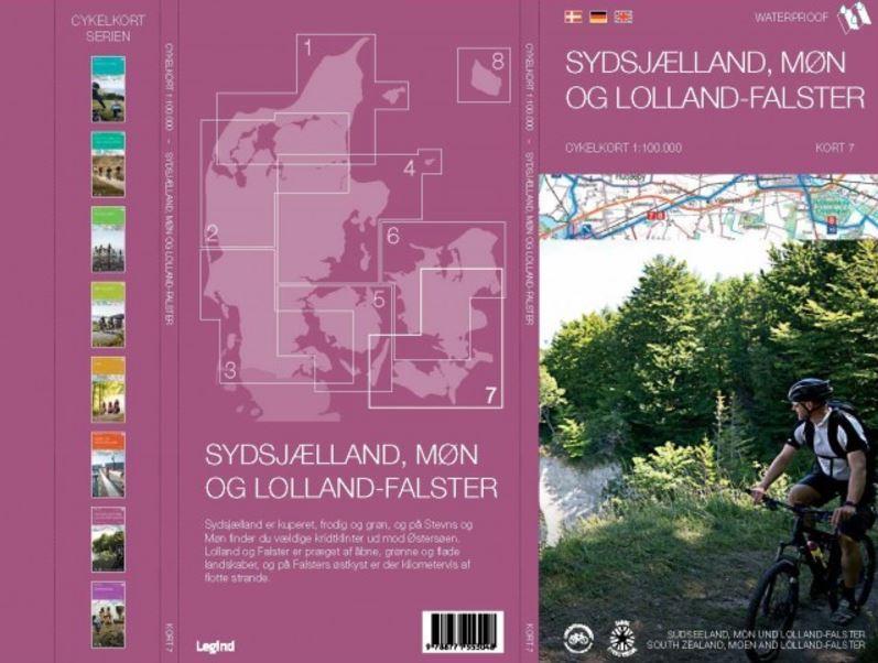 Sydsjælland, Møn og Lolland-Falster cykelkort