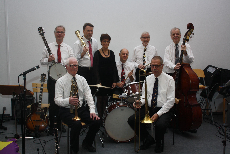 Musik i sommarkväll med Temptation Jazzband