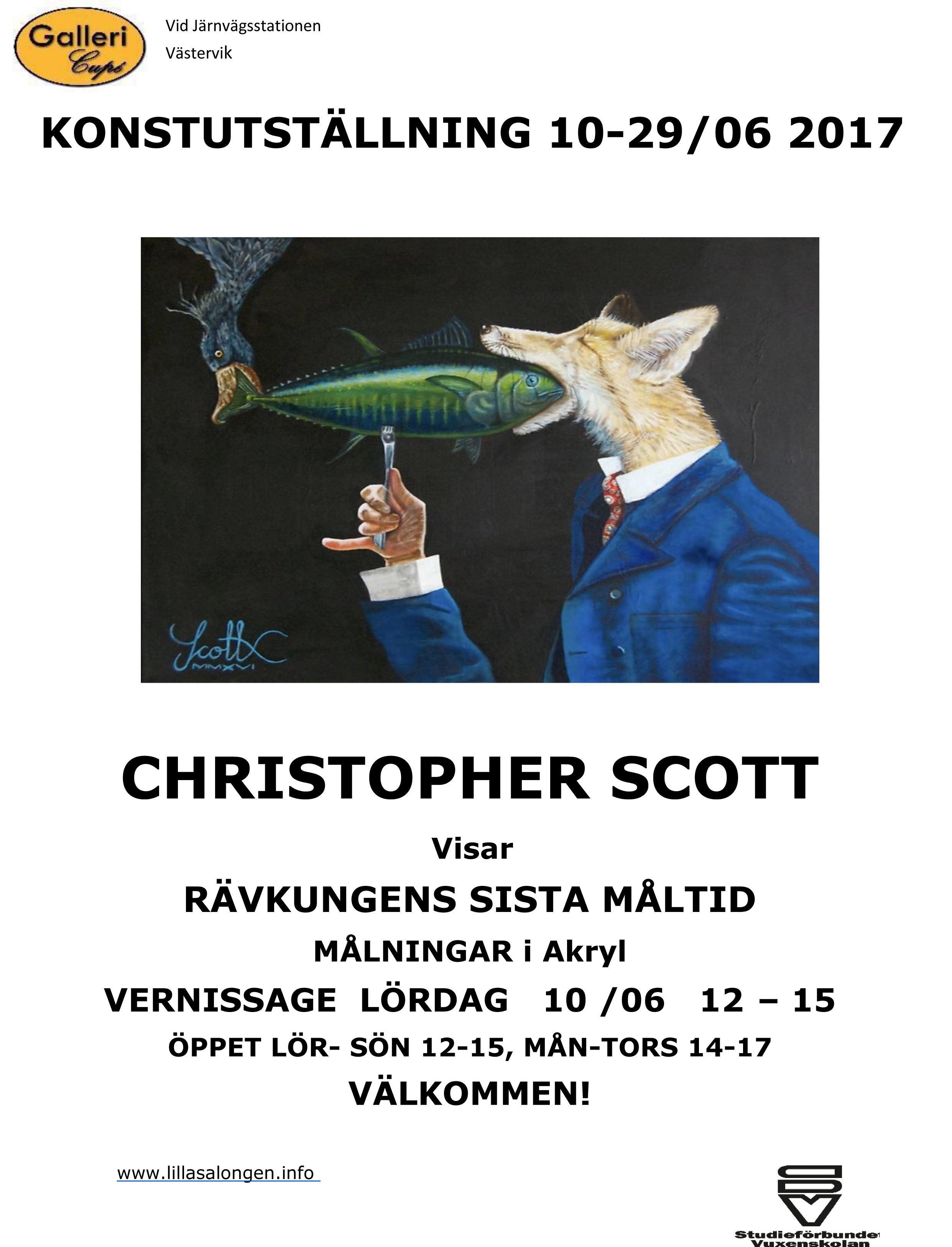 Konstutställning på Galleri Cupé med Christopher Scott
