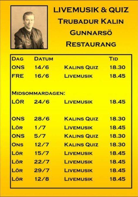 Livemusik & quiz