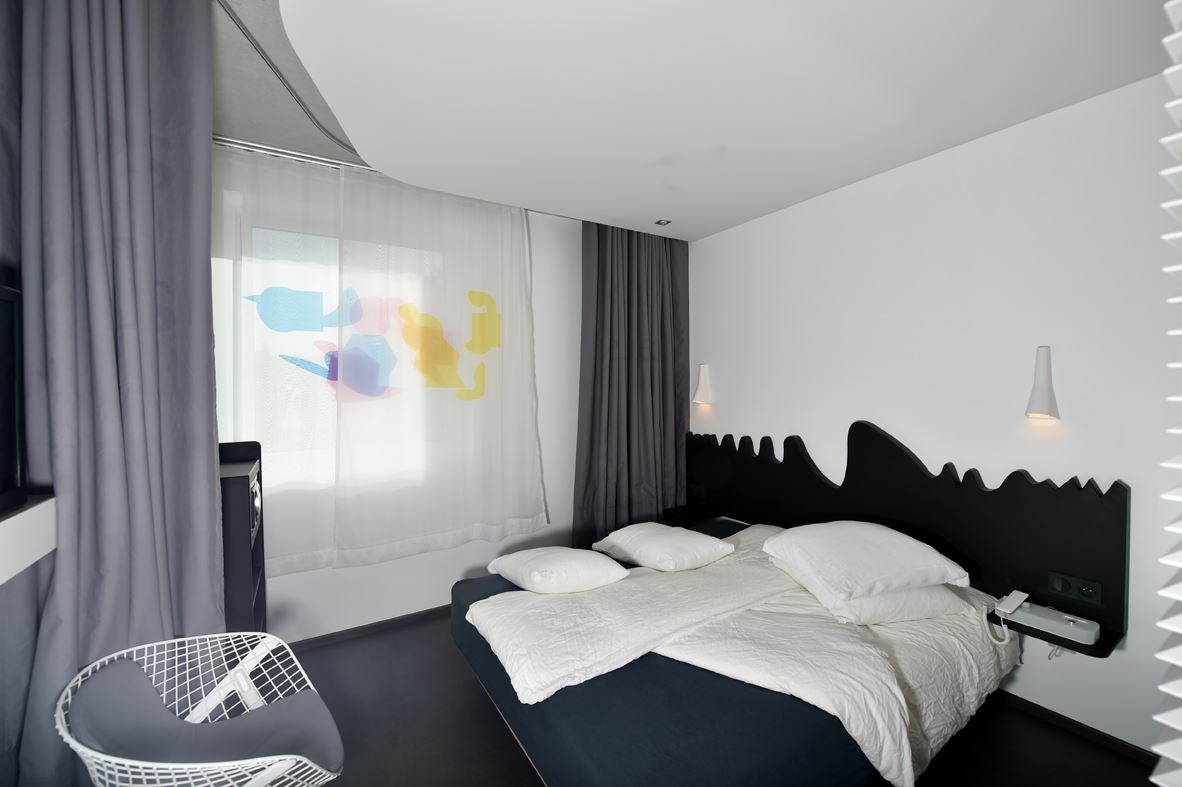 Artist designed room at Okko Hotel