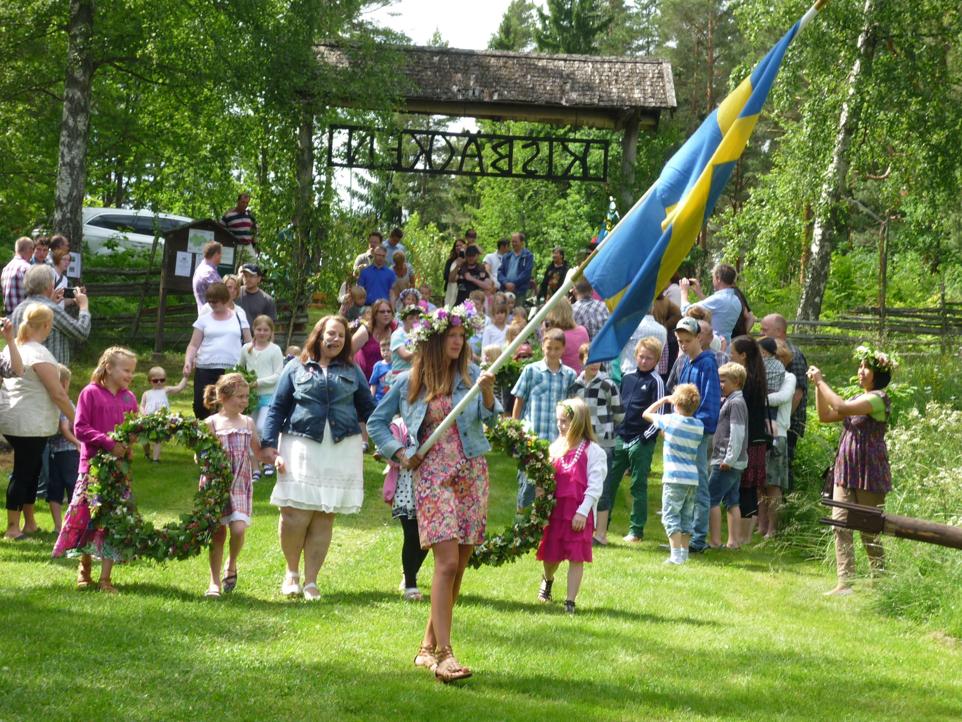 Midsummer celebrations in Kisbäcken, Ukna