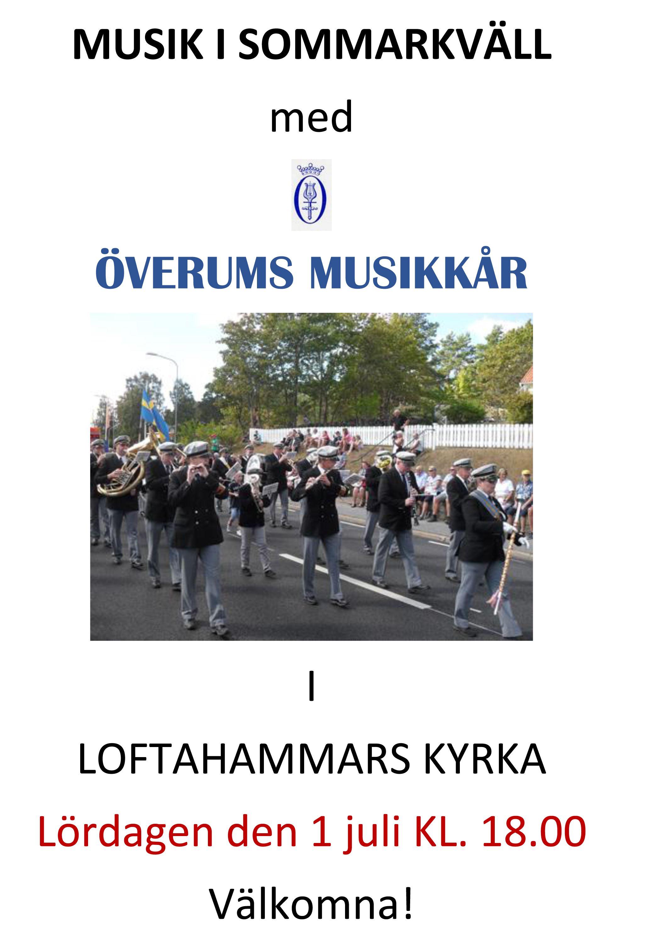 Musik i sommarkväll med Överums musikkår