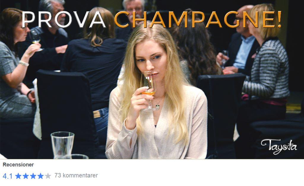 Taysta,  © Taysta, Champagneprovning Gävle