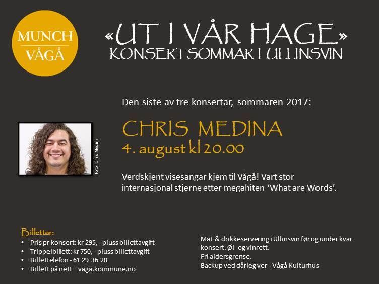Konsert med Chris Medina