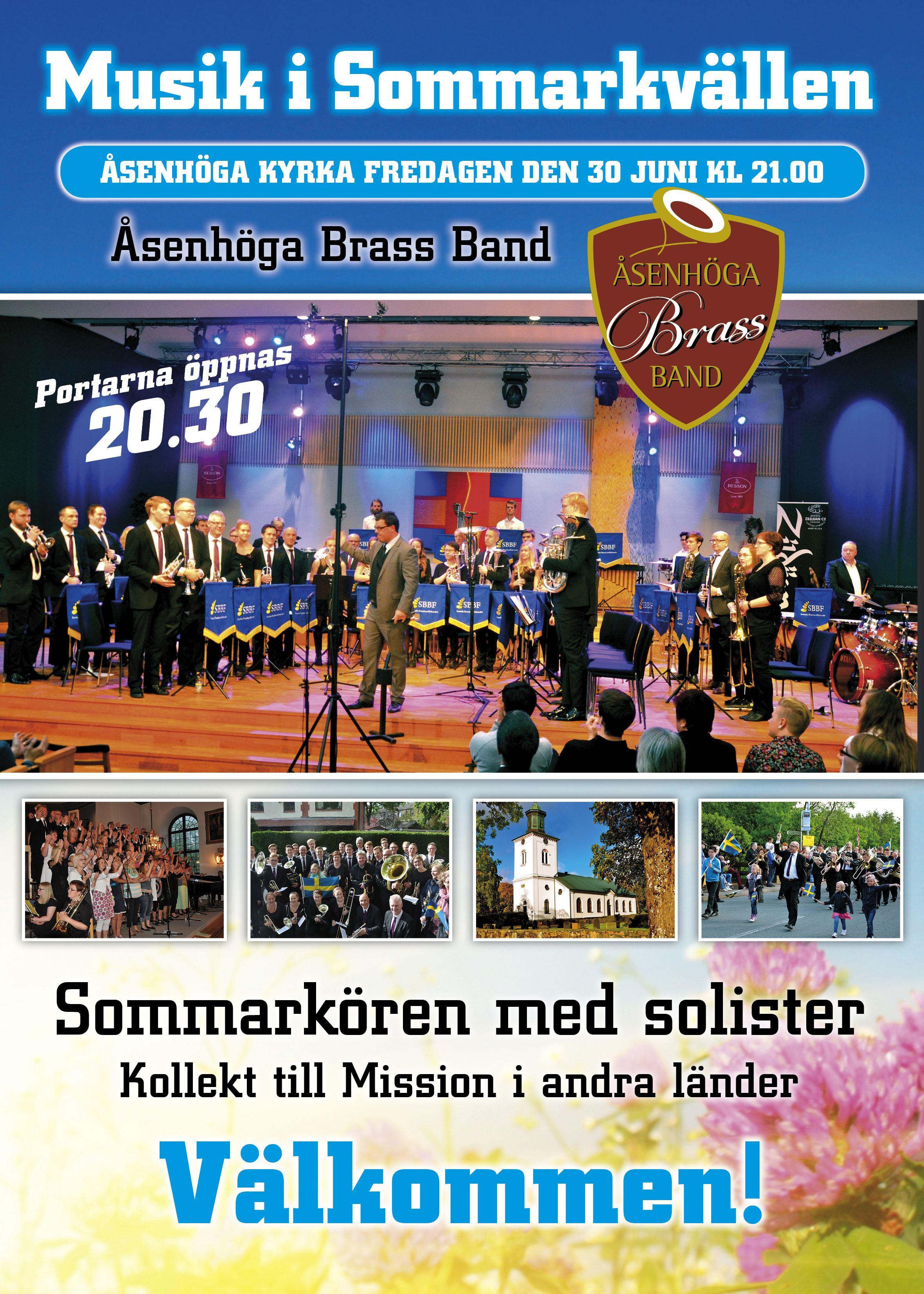 Musik i Sommarkvällen i Åsenhöga kyrka