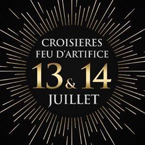 Dîner-croisière Feu d'artifice du 13 et 14 juillet à bord de L'Escapade