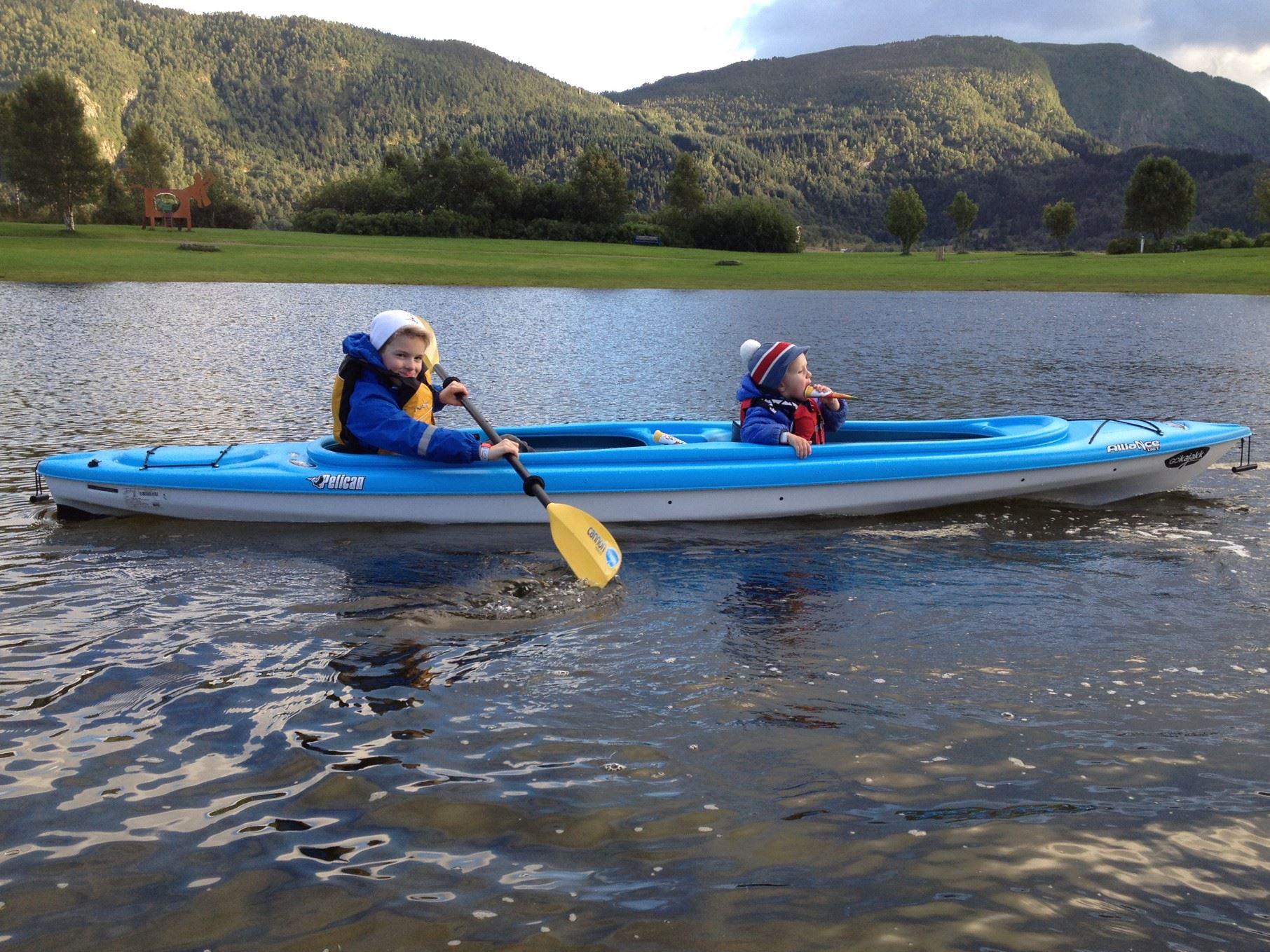 Utleige av kajakk for innsjø-/fjordpadling hos GoKajakk