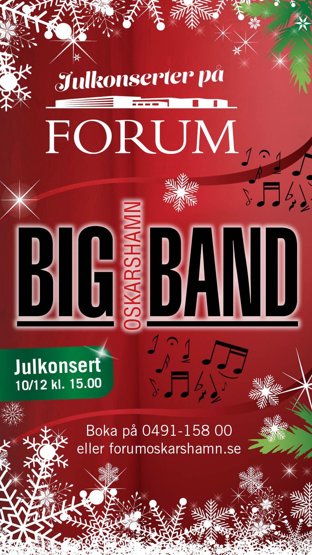 Julkonsert med Oskarshamn Big Band