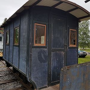 Ride on a train at Robertsfors Bruksmuseum