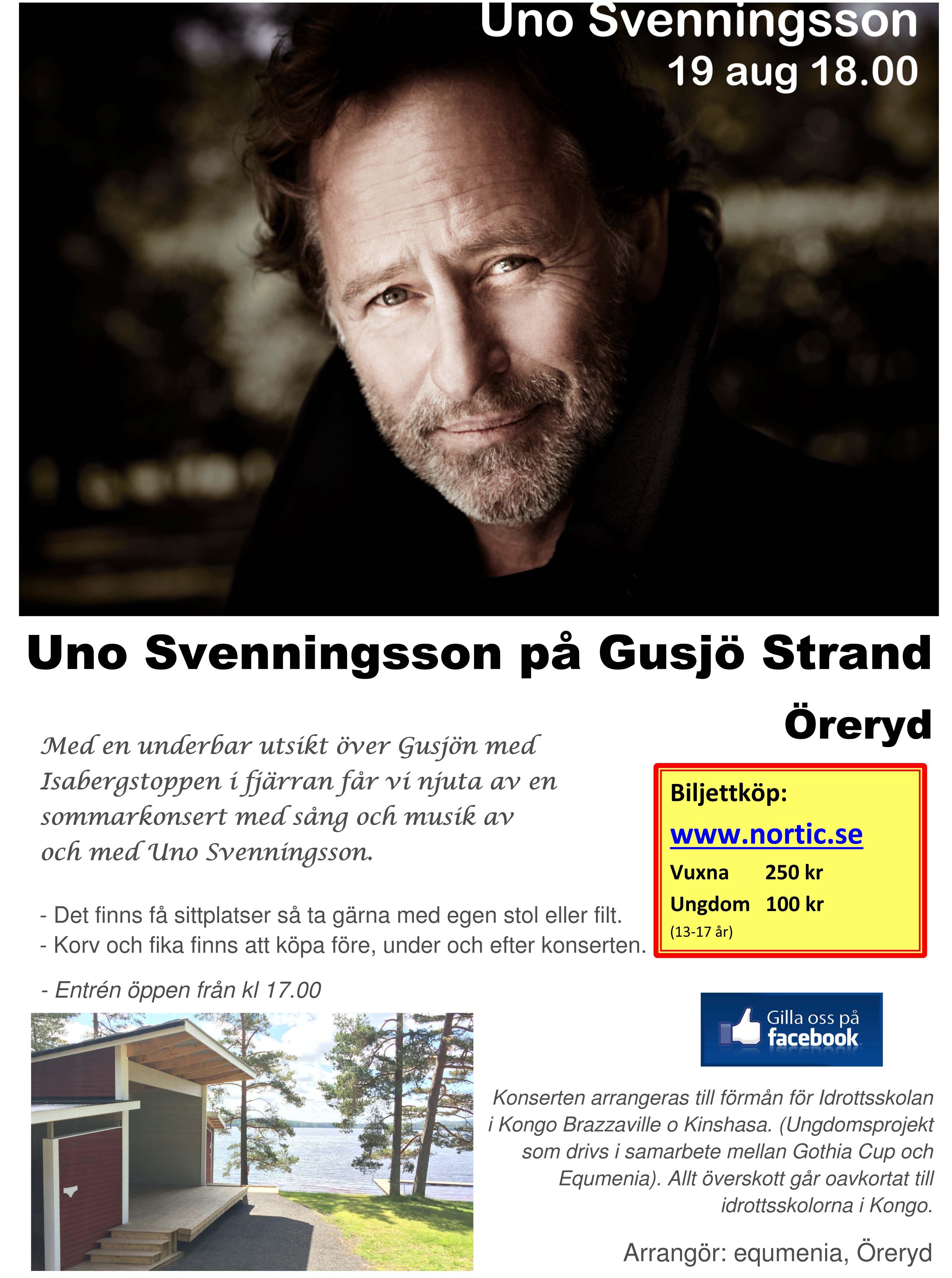 Uno Svenningsson på Gusjö Strand