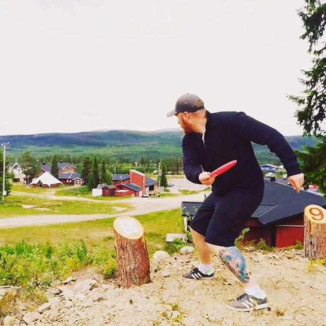 Bild på frisbeegolf i Lofsdalen