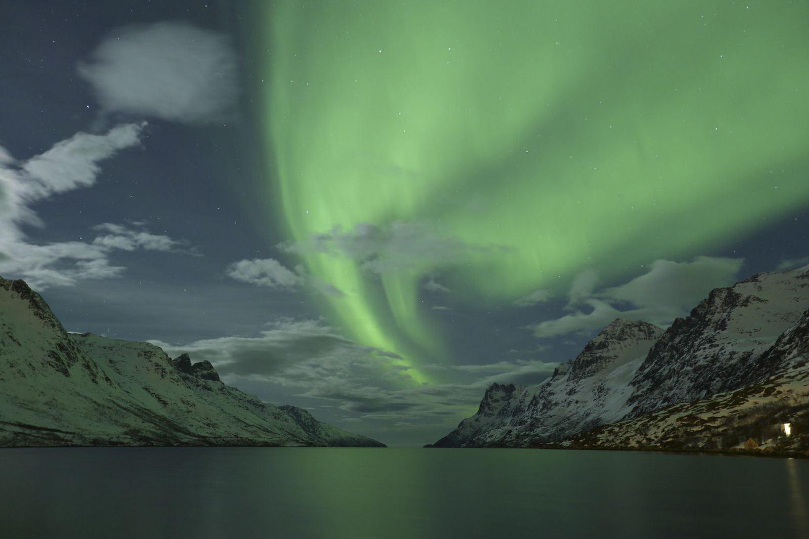 Nordlys over Ersfjorden - The Green Adventure