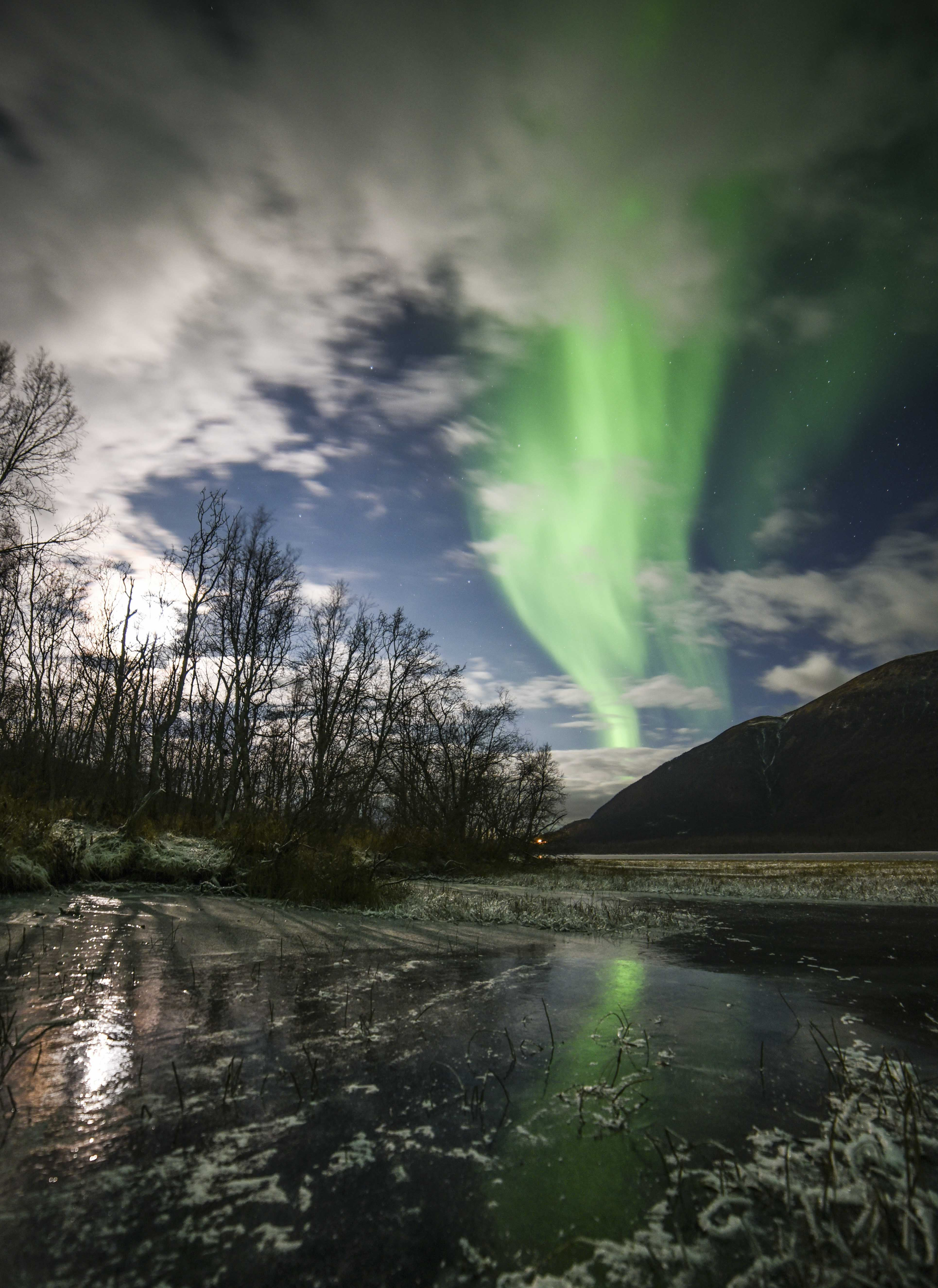 Aurora in Wonderland - a northern lights chase by minibuss - The Green Adventure
