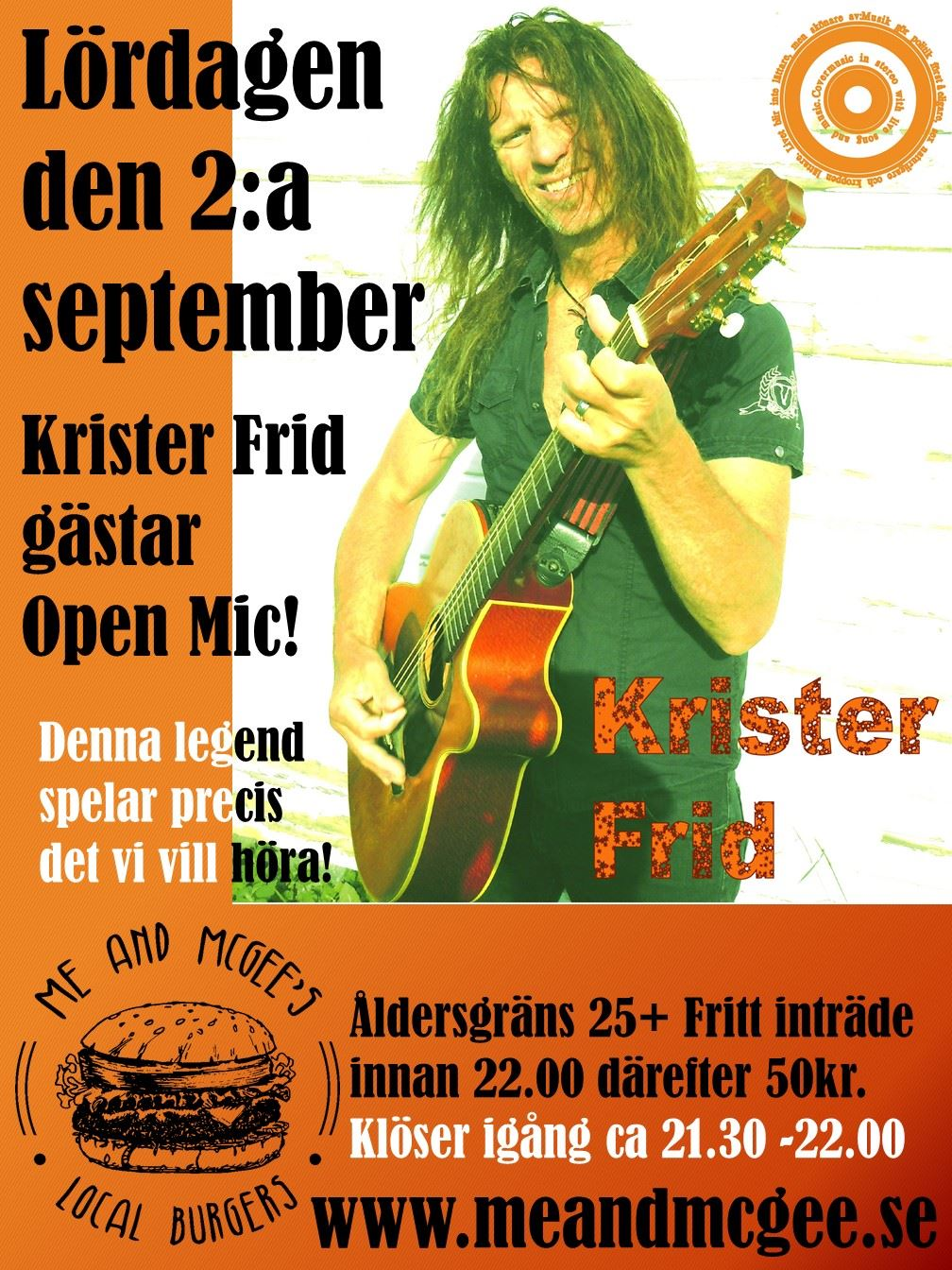 Krister Frid gästar Open mic!