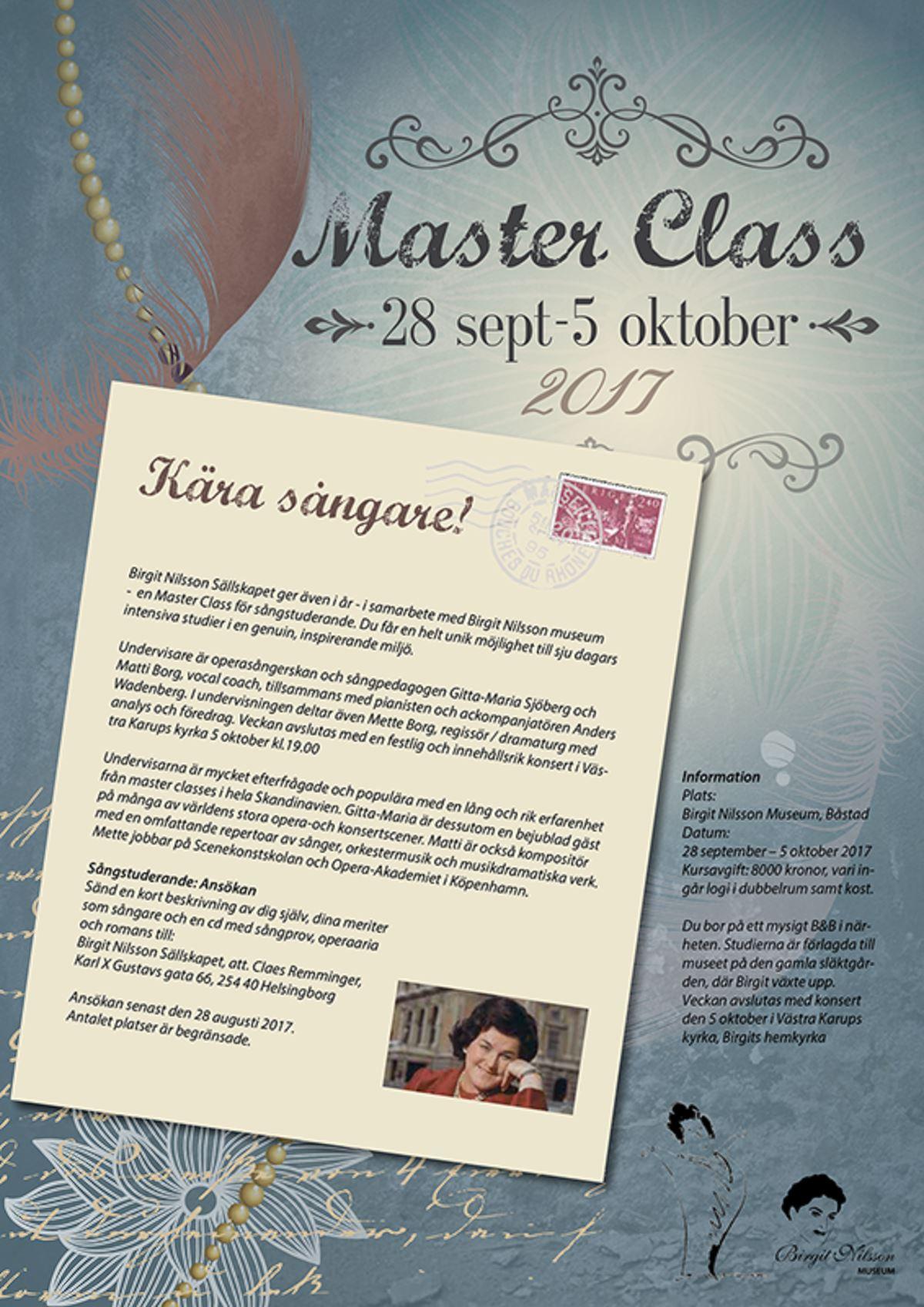 Konsert med Master class sångstudenter från Birgit Nilsson Museum