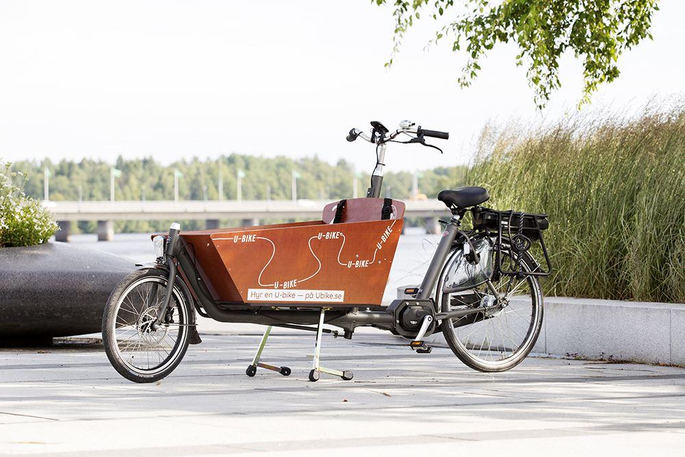 Tvåhjuling med stor låda
