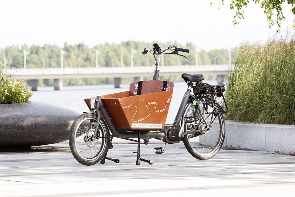 Tvåhjuling med liten låda