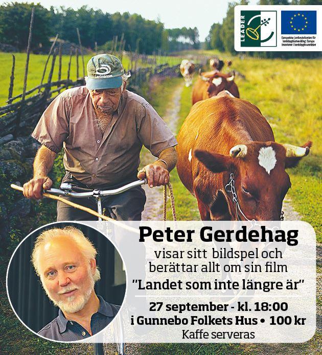Peter Gerdehag gästar Gunnebo Folkets Hus