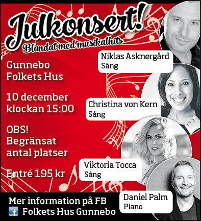 Julkonsert på Gunnebo Folkets Hus