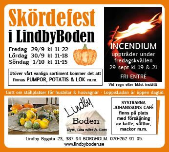 Eldshow hos LindbyBoden