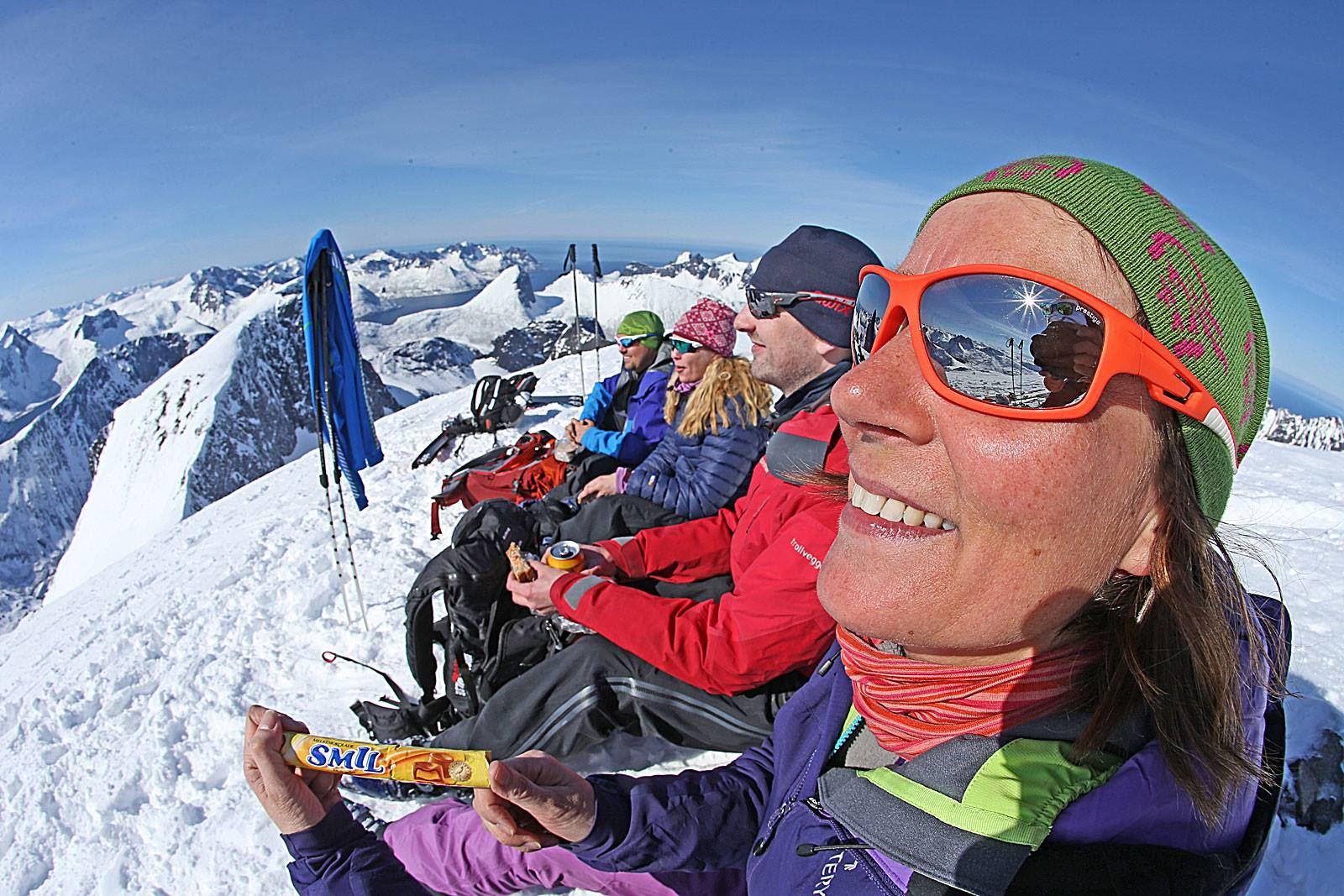 Ski touring camp 2018 på Senja