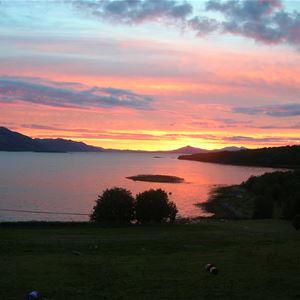 Solnedgang over Solbergfjorden