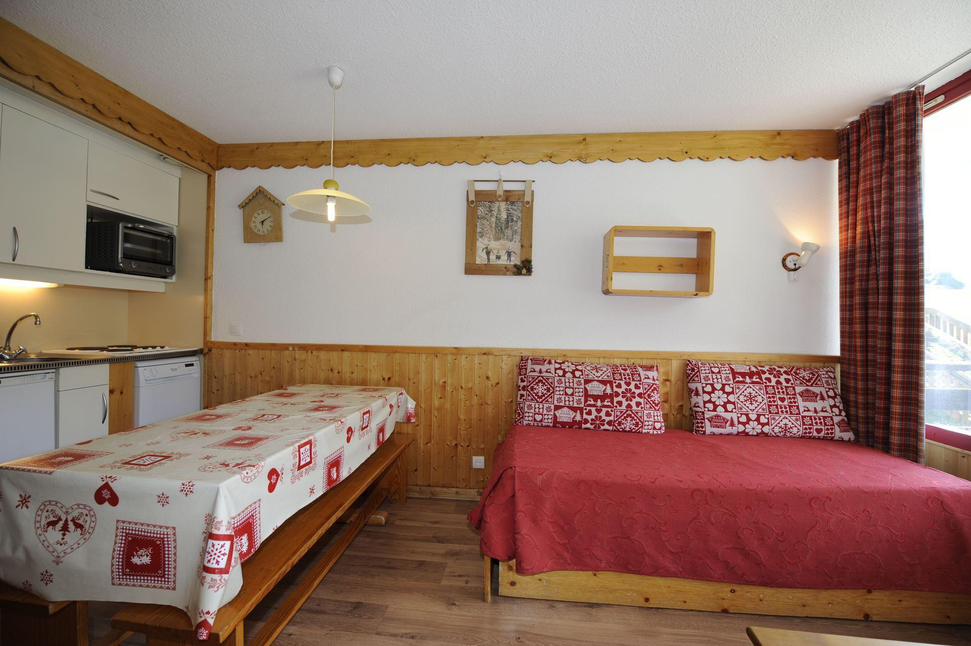 Studio 4 Pers ski-in-ski-out / Villaret 115