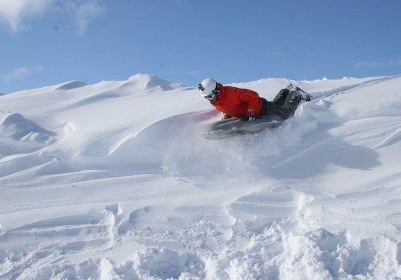 © Bjorli Skiskole , Airboard fra toppen av fjellheisen på Bjorli
