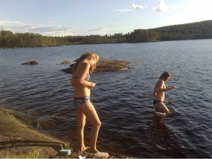 Bad finns nära Christinagården