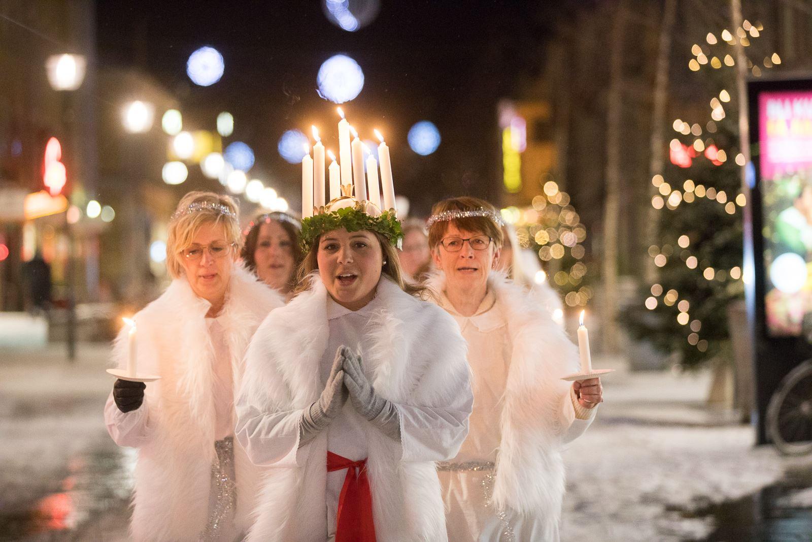 Umeå center Saint Lucy choir K2