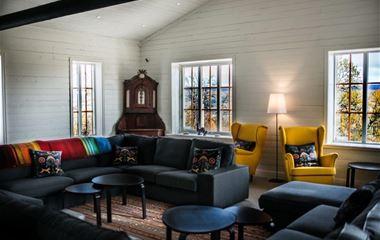Fjällbäcken Lodge för stora familjen eller större sällskap, 35 bäddar